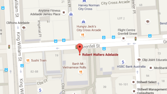 Robert Walters Adelaide office map