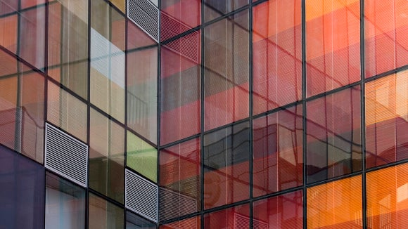 red-orange-building-reflection