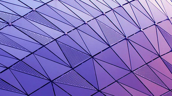 glass with purple exterior