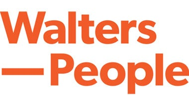 Walters People logo with orange background
